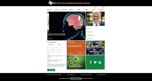 School of Behavioral and Brain Sciences Unveils New Website