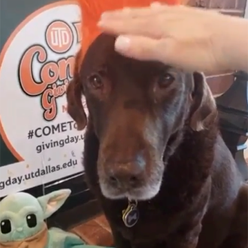 """Murphy says, """"Thank you to all who supported BBS during Comets Giving Days 2021!"""""""